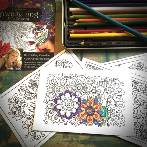 Crystal Salamon's Artful Colouring post cards