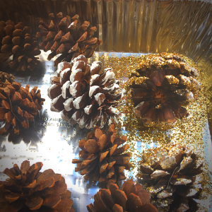 DIY Glitter Pine Cone Christmas Decorations