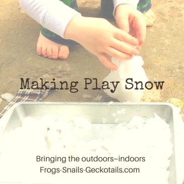 Making Play Snow Sensory Activity