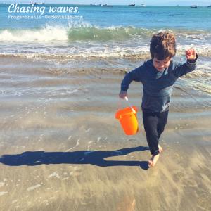Chasing waves Avila Beach California